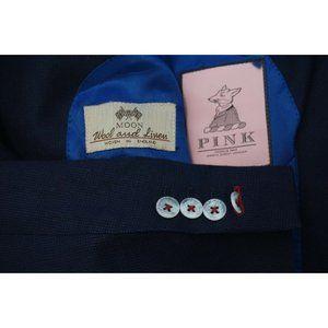 Thomas Pink Moon Wool Linen Blue Linen Blend Textu
